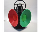 Railroad Switch Lamp Night Light, 3D Printed, LED, Automatic Operation, Lantern, Bed Side Table Lamp, Train Decor