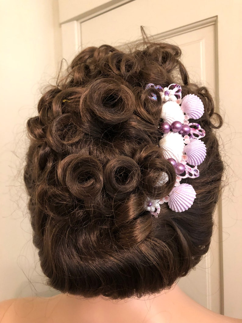 Mermaid Style Shell Comb,Cockle Shell French Comb,Up-Do French Comb,Hair Trinkets,Fancy Shell Combs,Polynesian Wear,Hawaiian Headdress.Shell