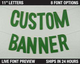 "Custom Banner, Wilderness Style, 11"""