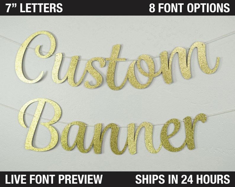 Custom Banner Fancy Letters 7  Wedding backdrop image 0