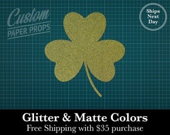 Shamrock Clover 3 leaf - Glitter or Matte Card Stock, Shape, Icons, Wall Decor, Crafts, Blanks