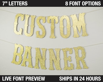 """Custom Banner, Western Style, 7"""" - rodeo party, Customized Banner, Western Theme, cowboy cowgirl rodeo last rodeo banner"""