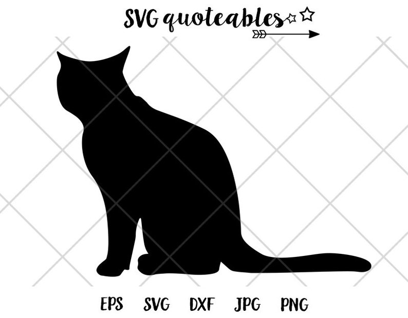 picture regarding Cat Stencil Printable named Cat Stencil Silhouette SVG Clipart Reduce Report, Vector, Electronic Obtain, Printable, Do it yourself Pet dog Crafts, Canine, Fur Mother, Cat Rescue