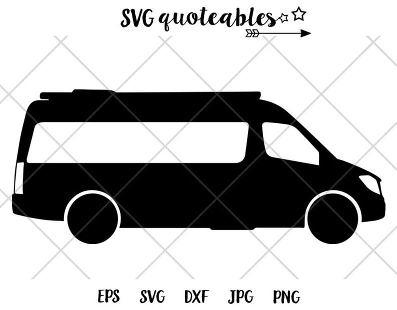 Mercedes Class B Sprinter Van Silhouette SVG Clipart Cut File, Outdoor  Vanlife Adventure, Digital Nomad, Camping, Airstream, Roadtrek, Hymer