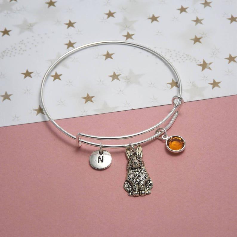 b702e8c5839e Silver rabbit bracelet Rabbit bangle Rabbit jewelry Bunny