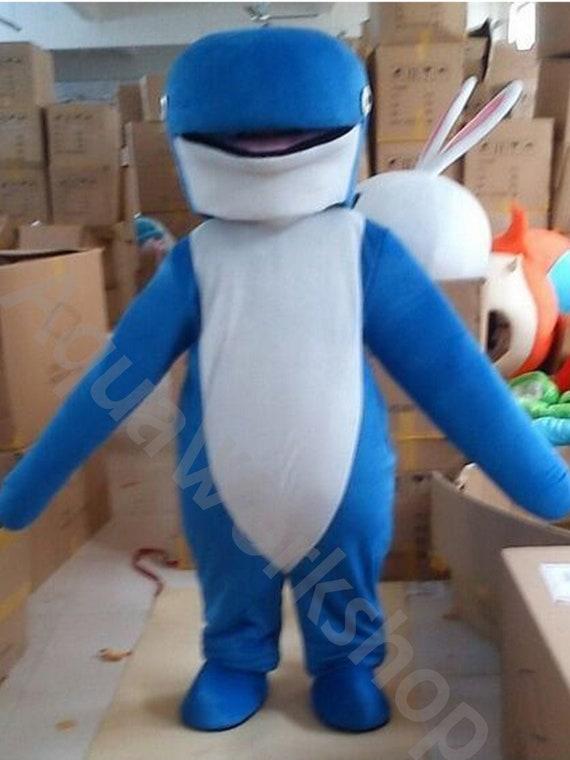 Blue Dolphin Sea Animal Costume Mascot Costume Kids Event Mascot School Mascot in Adult Size