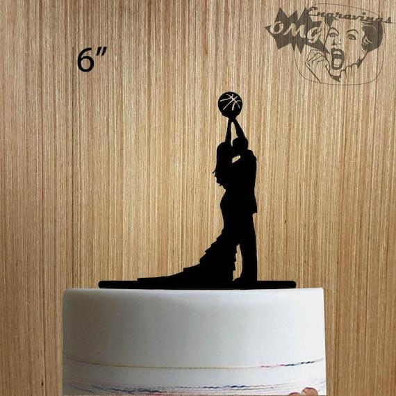Basketball Wedding 225-127 Cake Topper | Etsy