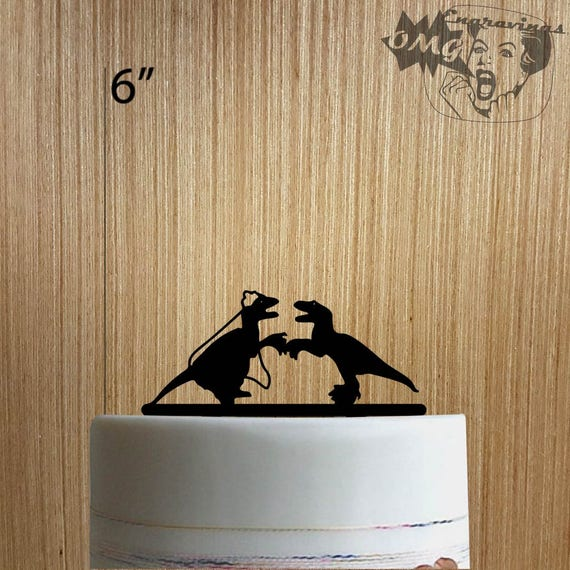 Dinosaur Wedding 225-126 Cake Topper | Etsy