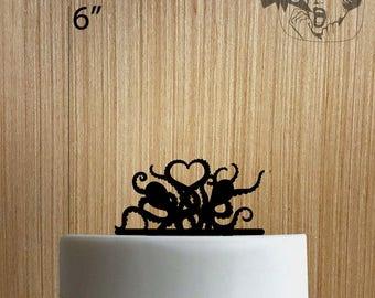 Octopus Heart 225-162 Cake Topper