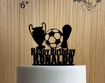 Custom Soccer Happy Birthday 225-002 Cake Topper