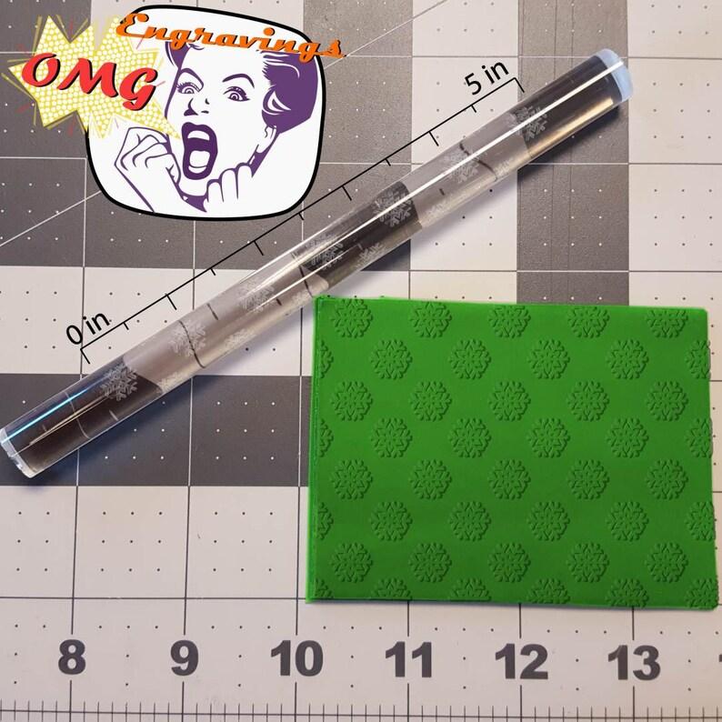 Snowflake Pattern 765-122 Rolling Pin
