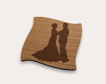 Dancing Couple Coaster 262-216 (Set of 4)