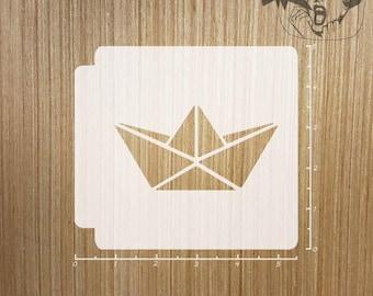 Origami Boat 783-410 Stencil