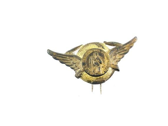 Vintage St Christopher Car Badge Badges & Mascots Automobilia