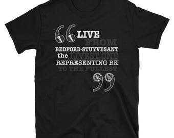 Live Big Graphic Lyrical Tee - Hip Hop Boom bap revelation spoken thru rap