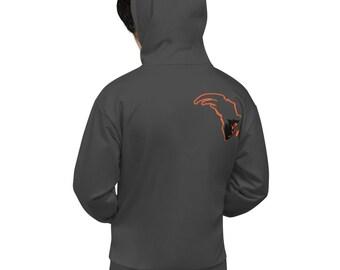 New Freedom Orange/Grey Hoodie