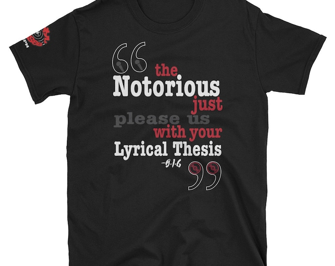 Featured listing image: Lyrical Thesis Tee | Notorious B.I.G | Hip hop