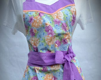 Flirty Gorgeous Floral Sweetheart Pinup Apron for Women