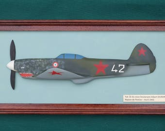 Relief painting Yak 1 b No. 42 in the colors of the Normadie