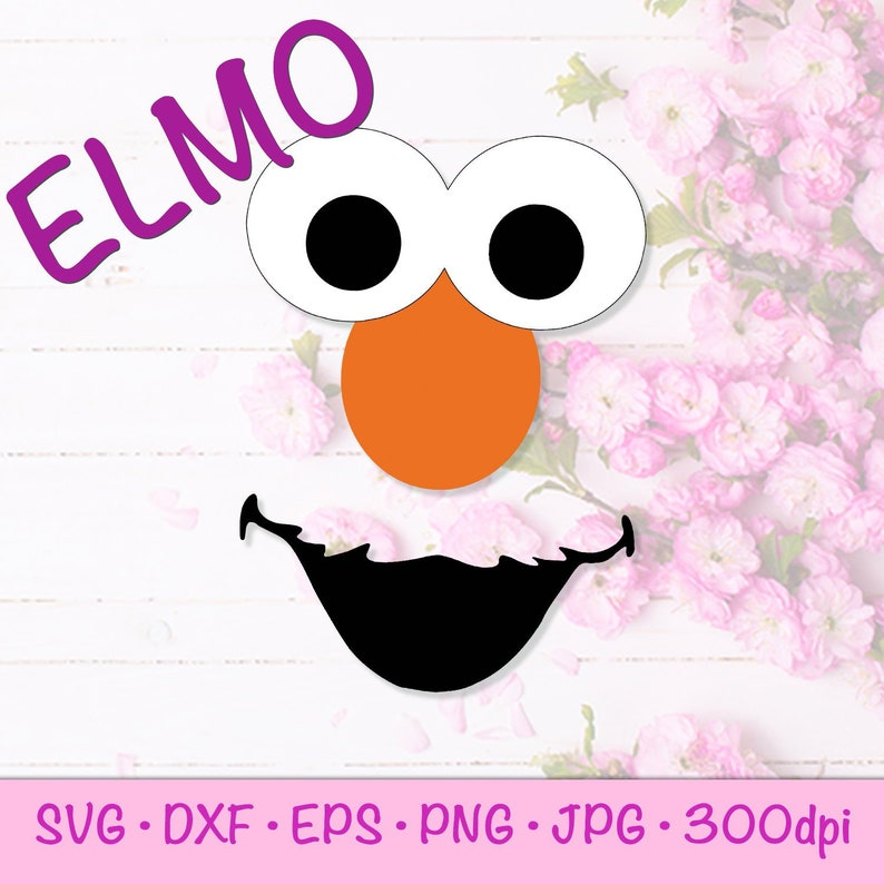 picture relating to Printable Elmo Face named Elmo Confront Sesame Road / Muppets svg, eps, png, jpg, dxf Clipart, Printable, Vector, Silhouette and Cricut Prepared
