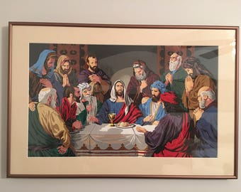 The Last Supper in Paint by Numbers - Beautifully Framed and Painted!