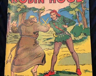 Vintage, The Story of Robin Hood, An Illustrated Story Book, Copyright 1932