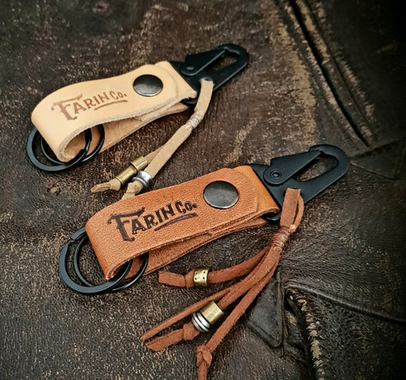 Keychain Small leather Key Fob,Complement Man,Biker,Biker,Men Accessories,Key Ring,Cafe Racer,Riders,Motorcycle,wallet,posterira,leather