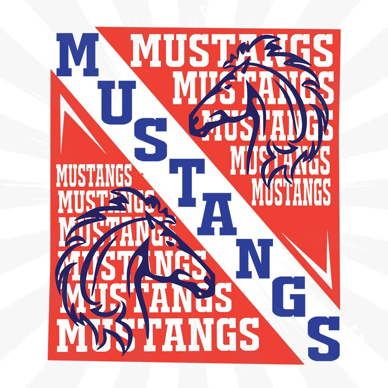 Mustangs digital cut file,png,cricut,silhouette,football,basketball,mustangs,vector file,Instant Download,knockout knockout SVG DXF EPS