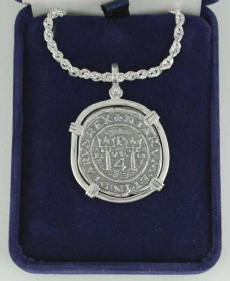 24K Pure Gold 4 Escudo Lima Mint Coin With 14K Gold Bezel 1715 Fleet Recreation