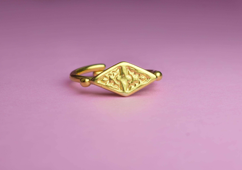 Boho stacking ring tribal rings hippie rings rhombus | Etsy