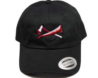 93b400724da78 Axe and Machete - Jason Voorhees - Friday the 13th inspired - Embroidered  Dad Hat