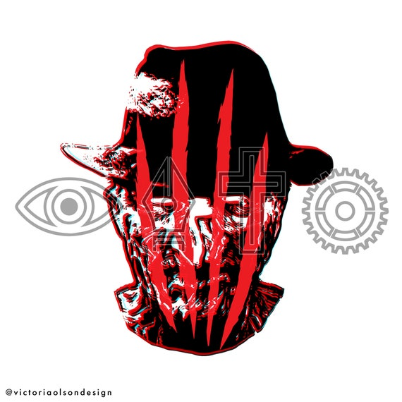 TONS OF OPTIONS Freddy Krueger Decal Sticker