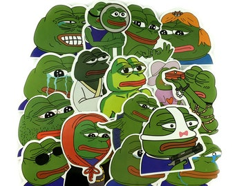 e4a2aa7579 Pepe Frog Meme Stickers Pack Vinyl 42 pcs   Pepe The Frog Decals   Feels  Good Man   Sad Pepe   Sticker Bombing   Laptop Sticker   Die Cut