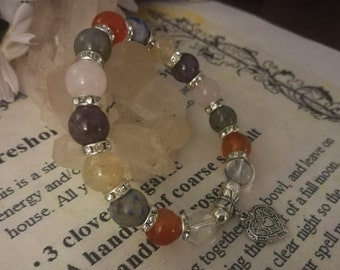 Weight loss Empath metabolism booster and protection bracelet  grounding wards against negative energy