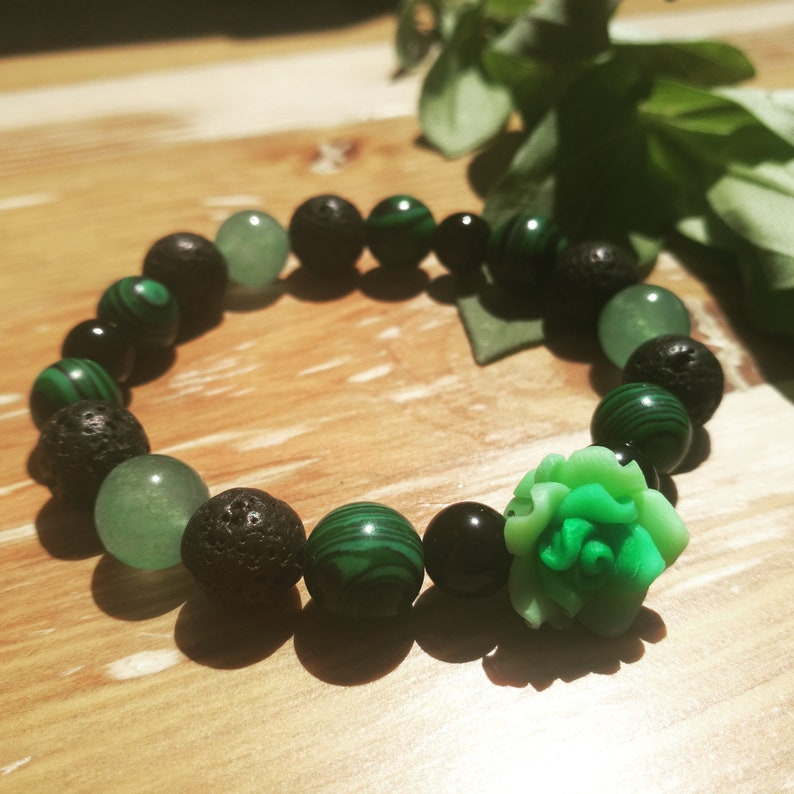 Empath Crystal protection healing bracelet anxiety natural crystals