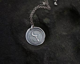 MADE-TO-ORDER: Hekate's Medallion Sterling Silver Wax Seal Pendant