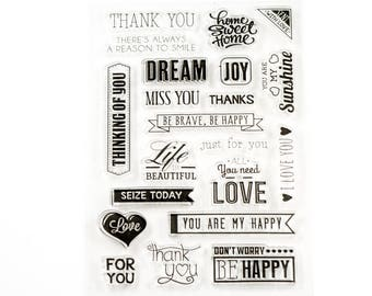 Clear stamp Love