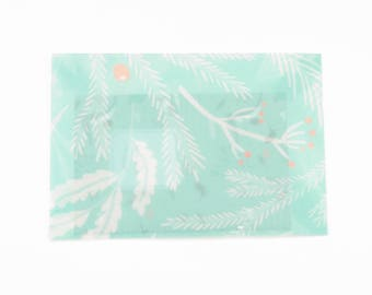 Set of 3 envelopes with leaves. Envelop