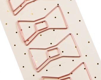 Paperclip rose gold. Set of 4.