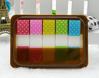 Neon sticky notes with dots. Post its, memopad, stationary, Planner tabs, notepad, bookmark