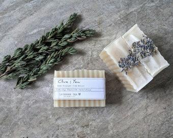 Lavender Soap Handmade Soap All Natural Soap Vegan Soap Essential Oils Clay Lavender Tea Infusion Moisturizing Soap Cold Process Soap Body