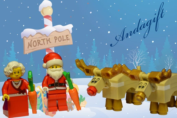 Rudolph Christmas Special.Lego Santa Mrs Christmas 2 Reindeer Including Rudolph And 2 Carrots Aag