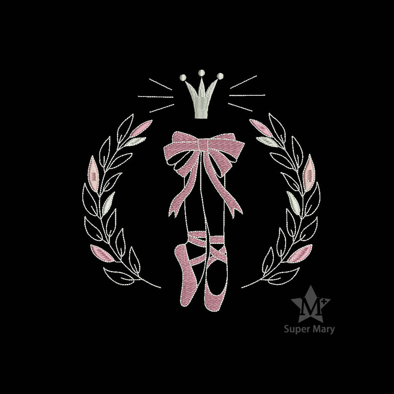 ballet dancing machine embroidery design for 4x4, 5x7, 6x10 hoops - instant download