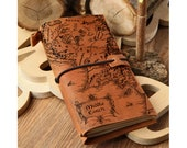 Leather journal with Middle earth map Lord of the Rings collection Size - 8x4 inch FREE Personalization FREE Shipping