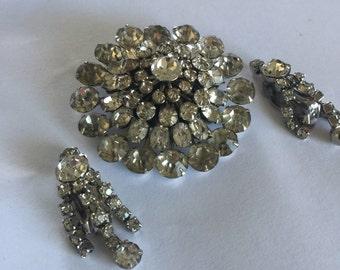 Vintage Coro Brooch and Earrings