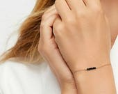 Birthstone Bracelet Gemstone Bracelet Gold, Sterling Silver Gift Ideas for her Sapphire bracelet Turquoise Bracelet