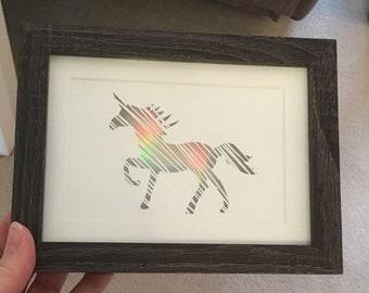 Scribble Unicorn Papercutting Template