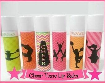 CHEER TEAM Lip Balm - Cheerleader - Personalized Cheer Team Gifts - Cheer Team Colors - Free Personalization - Set of 20