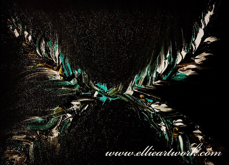 Abstract teal art image 0