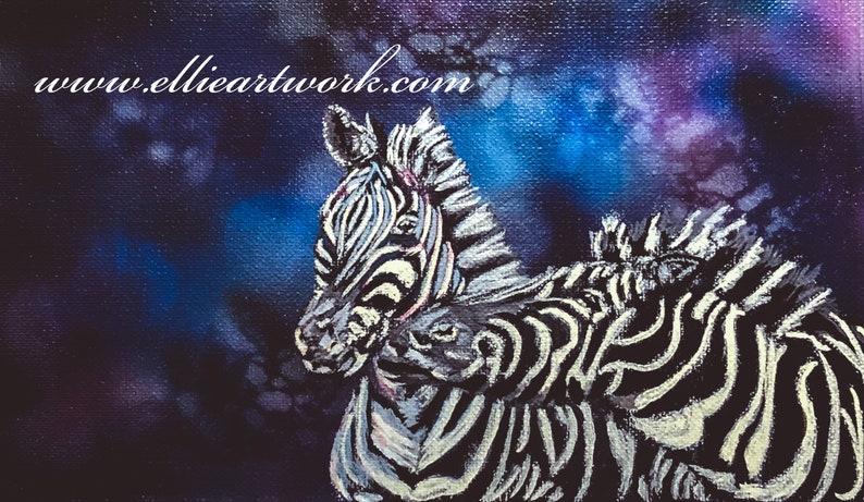 Zebra painting original painting acrylic on canvas image 0